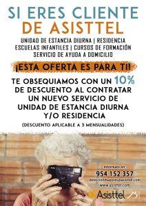 Oferta fidelización clientes Asisttel UED y Residencia