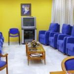 zona de televisión del Centro Asisttel situado en el Aljarafe
