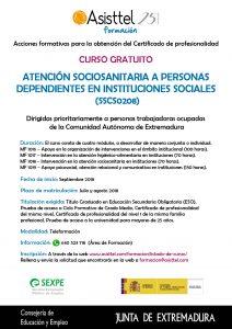 Cartel Atención Sociosanitaria Badajoz
