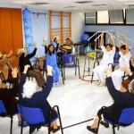 Ejercicios de rehabilitación en el Centro Asisttel situado en el Aljarafe
