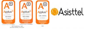 LOGO Applus -Asisttel y alcance
